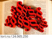Купить «Law book with paragraphs, natural colorful tone», фото № 24065250, снято 1 августа 2014 г. (c) easy Fotostock / Фотобанк Лори