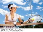 Купить «Woman playing tennis, natural colorful tone», фото № 24066150, снято 15 июня 2014 г. (c) easy Fotostock / Фотобанк Лори