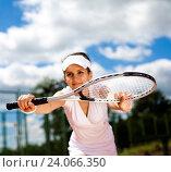 Купить «Tennis player, natural colorful tone», фото № 24066350, снято 15 июня 2014 г. (c) easy Fotostock / Фотобанк Лори