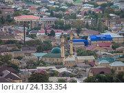 Купить «Дагестан. Дербент. Вид на город.  Мечеть», эксклюзивное фото № 24133354, снято 22 сентября 2016 г. (c) Литвяк Игорь / Фотобанк Лори