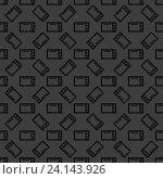 Купить «Microwave. kitchen equipment web icon. flat design. Seamless gray pattern.», фото № 24143926, снято 20 июня 2014 г. (c) easy Fotostock / Фотобанк Лори
