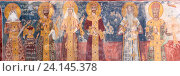 Купить «Ancient XVI century fresco in Gelati Monastery Georgia», фото № 24145378, снято 30 октября 2016 г. (c) Дмитрий Калиновский / Фотобанк Лори