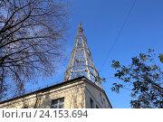 Купить «Шуховская башня. Москва, Россия», фото № 24153694, снято 25 октября 2016 г. (c) Владимир Журавлев / Фотобанк Лори