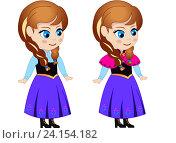 Купить «Принцесса Анна (подросток) рисованный персонаж», иллюстрация № 24154182 (c) Jane Miau / Фотобанк Лори