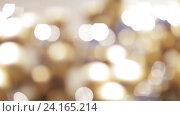 Купить «golden christmas decoration or garland of beads», видеоролик № 24165214, снято 3 ноября 2016 г. (c) Syda Productions / Фотобанк Лори