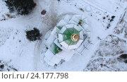 Купить «Вращение камеры над куполом церкви, зима в городе Сегежа, Карелия», видеоролик № 24177798, снято 8 ноября 2016 г. (c) Кекяляйнен Андрей / Фотобанк Лори