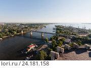 Купить «Старый мост через реку Самара», фото № 24181158, снято 3 июля 2013 г. (c) Влад Виноградов / Фотобанк Лори