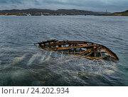 Брошенное судно, Териберка, Россия, фото № 24202934, снято 29 июля 2016 г. (c) Liseykina / Фотобанк Лори