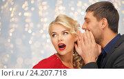 Купить «man and woman spreading gossip», фото № 24207718, снято 7 октября 2012 г. (c) Syda Productions / Фотобанк Лори