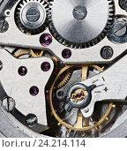 Купить «Часовой механизм», фото № 24214114, снято 10 ноября 2016 г. (c) Александр Лычагин / Фотобанк Лори