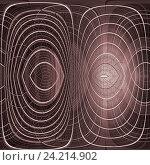 Купить «Абстрактный концентрический коричневый фон», иллюстрация № 24214902 (c) Дудакова / Фотобанк Лори
