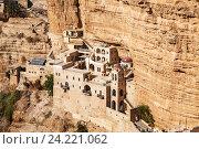 Купить «Монастырь святого Георгия Хозевита в Иудейской пустыне, Палестина», фото № 24221062, снято 29 октября 2016 г. (c) Наталья Волкова / Фотобанк Лори