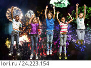 Купить «children happy new year», фото № 24223154, снято 21 января 2020 г. (c) Wavebreak Media / Фотобанк Лори