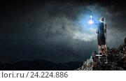 Купить «Lost in darkness . Mixed media», фото № 24224886, снято 17 марта 2014 г. (c) Sergey Nivens / Фотобанк Лори