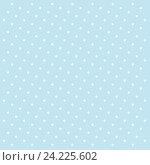 Голубой фон в белый горошек. Стоковая иллюстрация, иллюстратор Владимир Сорокин / Фотобанк Лори