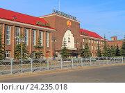 Купить «Южный вокзал Калининграда. Комплекс зданий главного железнодорожного вокзала 1929 года постройки. Россия», фото № 24235018, снято 4 мая 2016 г. (c) Михаил Рудницкий / Фотобанк Лори