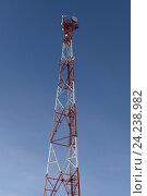 Купить «Телекоммуникационная вышка», фото № 24238982, снято 1 ноября 2016 г. (c) Great Siberia Studio / Фотобанк Лори