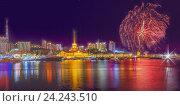Купить «Салют в Сочи», эксклюзивное фото № 24243510, снято 19 ноября 2016 г. (c) Николай Сивенков / Фотобанк Лори