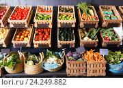 Купить «fruits and veggies market», фото № 24249882, снято 17 сентября 2019 г. (c) Яков Филимонов / Фотобанк Лори