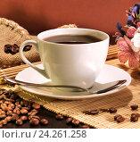 Купить «Кофейная композиция», фото № 24261258, снято 25 октября 2014 г. (c) Виктор Топорков / Фотобанк Лори