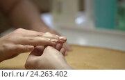 Купить «Young girl with manicure», видеоролик № 24263402, снято 21 января 2020 г. (c) Raev Denis / Фотобанк Лори
