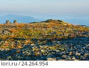 Купить «Summer morning mountain view (Carpathian, Ukraine).», фото № 24264954, снято 21 августа 2016 г. (c) Юрий Брыкайло / Фотобанк Лори
