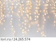 Купить «christmas decoration or garland lights bokeh», фото № 24265574, снято 15 октября 2016 г. (c) Syda Productions / Фотобанк Лори