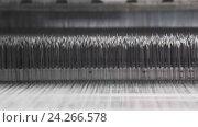 Прядильная фабрика. Производства тканей,  шелка,  льна,  синтетики, ниток. Автоматизированный процесс. Стоковое видео, видеограф Бубнов Дмитрий / Фотобанк Лори