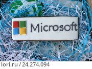 Купить «Пряник Microsoft», фото № 24274094, снято 31 июля 2015 г. (c) Александр Динаев / Фотобанк Лори