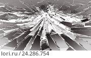 Острые осколки разбитого зеркала. Стоковая иллюстрация, иллюстратор Арсений Герасименко / Фотобанк Лори