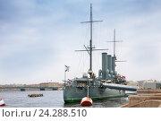 Купить «Крейсер Аврора в Санкт-Петербурге, Россия», фото № 24288510, снято 22 октября 2016 г. (c) Anna P. / Фотобанк Лори