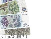 Купить «Банконты Республики Грузии, место для текста», фото № 24288718, снято 24 ноября 2017 г. (c) Евгений Ткачёв / Фотобанк Лори