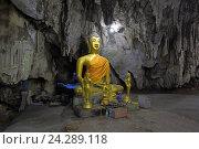 Купить «Статуя Будды. Подземный храм в пещере Као Пун (Wat Tham Khao Pun), провинция Канчанабури, Королевство Таиланд», фото № 24289118, снято 30 декабря 2013 г. (c) Григорий Писоцкий / Фотобанк Лори