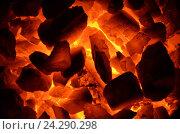 Купить «Горение угля Антрацит», фото № 24290298, снято 14 ноября 2016 г. (c) Игорь Кутателадзе / Фотобанк Лори