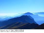 Голубые горы. Кавказ. Стоковое фото, фотограф Дмитрий Воробьев / Фотобанк Лори