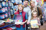 Parents and children choosing writing materials, фото № 24296650, снято 1 декабря 2016 г. (c) Яков Филимонов / Фотобанк Лори
