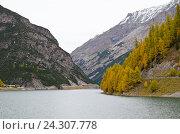 Горное озеро. Стоковое фото, фотограф Добыш Александр / Фотобанк Лори