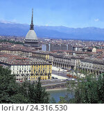 Купить «Italy, Piedmont, Turin, town overview, Europe, provincial centre, town, overview, houses, residential houses, buildings, mole Antonelliana, structure,...», фото № 24316530, снято 1 января 1985 г. (c) mauritius images / Фотобанк Лори