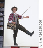 Купить «Anglers, hinge, pouch, gesture, man, hinge equipment, laugh, motion, studio, cut out», фото № 24330006, снято 6 декабря 2001 г. (c) mauritius images / Фотобанк Лори