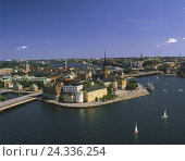 Купить «Sweden, Stockholm, Riddarholmen, Old Town, town view, river, structures, buildings, architecture, boots, ship, heaven, streets, churches,», фото № 24336254, снято 21 сентября 2009 г. (c) mauritius images / Фотобанк Лори