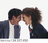 Купить «Couple, fight, shout, half portrait, argue, shout, inside, near, studio, cut outs,», фото № 24337650, снято 14 января 2002 г. (c) mauritius images / Фотобанк Лори