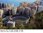 Купить «Malaga, view Castillo de Gibralfaro, view Castillo de Gibralfaro on einenTeil the town with the bullfight arena, plaza de Toros, Spain, Andalusia», фото № 24338118, снято 30 октября 2014 г. (c) mauritius images / Фотобанк Лори