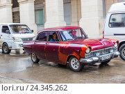 Купить «Old-timer, historical Old Town Havana, Habana Vieja, Cuba, the Greater Antilles, the Caribbean, Central America, America», фото № 24345262, снято 4 декабря 2015 г. (c) mauritius images / Фотобанк Лори
