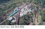 Купить «Aerial view on Shwe Inn Thein Paya temple, Myanmar», видеоролик № 24363866, снято 17 ноября 2016 г. (c) Михаил Коханчиков / Фотобанк Лори