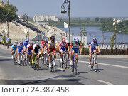 Купить «Группа спортсменов-велосипедистов», фото № 24387458, снято 21 августа 2018 г. (c) Землянникова Вероника / Фотобанк Лори