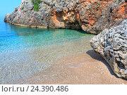 Купить «Summer Ionian sea coast, Albania.», фото № 24390486, снято 12 июля 2016 г. (c) Юрий Брыкайло / Фотобанк Лори