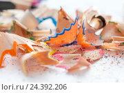 Карандашные опилки. Стоковое фото, фотограф Viktoryia Vinnikava / Фотобанк Лори