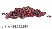 Купить «Красная фасоль, изолировано на белом фоне», фото № 24392910, снято 31 июля 2016 г. (c) Екатерина Овсянникова / Фотобанк Лори