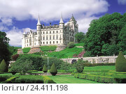 Купить «Great Britain, Scotland, highland, Dunrobin Castle, castle grounds, curls, lock, Castle, Dunrobin, castle garden, place of interest», фото № 24411198, снято 15 февраля 2002 г. (c) mauritius images / Фотобанк Лори