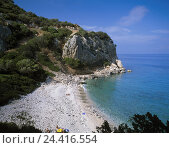 Купить «Italy, Sardinia, province Nuoro, Golfo Tu Orosei, Cala Fuili, bath bay, island, the Mediterranean Sea, Sardegna, east coast, sea, bay, beach, close Cala Gonone, lonely, exit, couples», фото № 24416554, снято 14 декабря 2006 г. (c) mauritius images / Фотобанк Лори